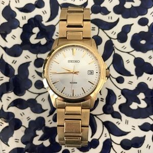 Seiko Gold Watch Woman's